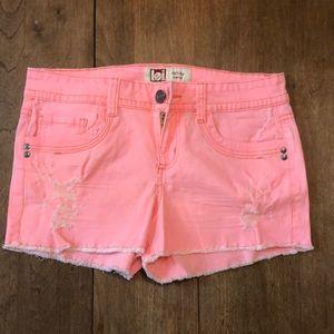 Hot pink lowrise shorts
